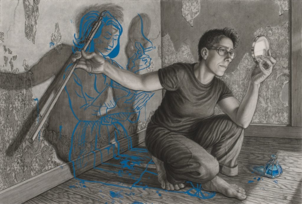 Riva Lehrer's portrait of Alison Bechdel, a winning entrant in the National Portrait Gallery's Outwin Competition, was included in a recent article created by the author's NEA-funded arts journalism project, Artapedia. Image used by permission of The National Portrait Gallery.