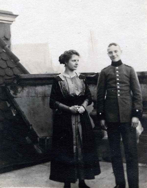 The author's grandfather in his German military uniform.